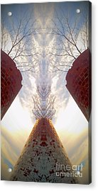 Acrylic Print featuring the photograph Portal Of The Silos by Karen Newell