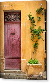Porte Rouge Acrylic Print by Inge Johnsson