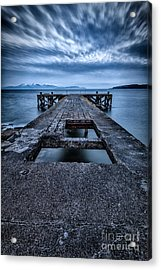 Portencross Pier  Acrylic Print by John Farnan