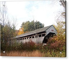 Porter Covered Bridge Acrylic Print by Catherine Gagne