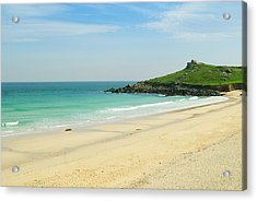 Porthmeor Beach At St. Ives, Cornwall Acrylic Print by John Harper