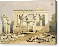 Portico Of The Temple Of Kalabshah Acrylic Print