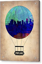 Portland Air Balloon Acrylic Print by Naxart Studio