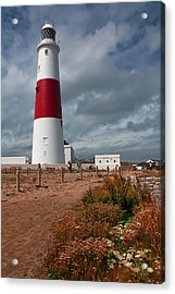 Portland Bill Lighthouse Acrylic Print by Shirley Mitchell