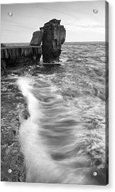 Portland Bill Seascape Acrylic Print by Ian Middleton