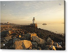 Portland Breakwater Light - Portland Maine Acrylic Print by Erin Paul Donovan