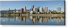 Acrylic Print featuring the photograph Portland Downtown Waterfront Skyline Panorama by JPLDesigns