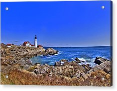 Portland Head Light 4 Acrylic Print by Joann Vitali