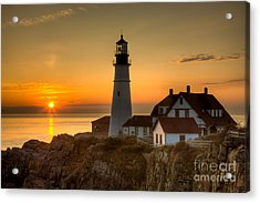 Portland Head Light At Sunrise II Acrylic Print