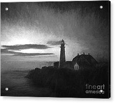 Portland Head Light At Sunrised Acrylic Print by Diane Diederich