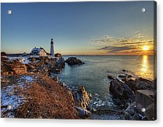 Portland Head Light Acrylic Print by Chris Babcock