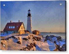 Portland Head Light - New England Lighthouse - Cape Elizabeth Maine Acrylic Print