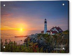 Portland Head Light Sunrise  Acrylic Print