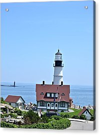 Portland Head Light Acrylic Print by Tara Potts