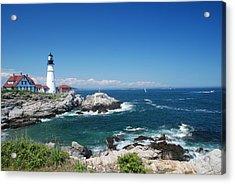 Portland Head Lighthouse Acrylic Print by Allen Beatty