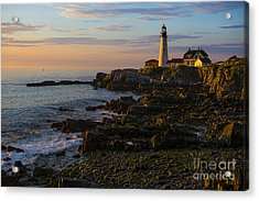 Portland Head Lighthouse At Dawn Acrylic Print by Diane Diederich