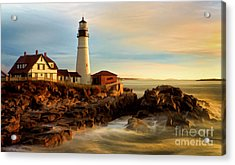Portland Head Lighthouse At Dawn Acrylic Print