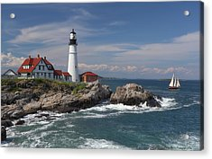 Portland Head Lighthouse Acrylic Print by Daniel Behm