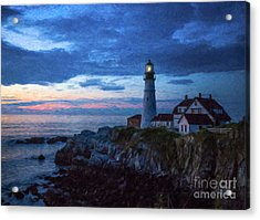 Portland Head Lighthouse Acrylic Print by Diane Diederich