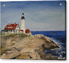 Portland Head Lighthouse In Maine Acrylic Print