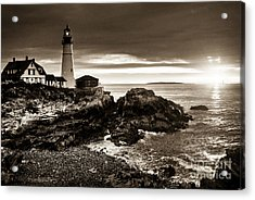 Acrylic Print featuring the photograph Portland Head Lighthouse Sunrise by Alana Ranney