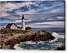 Portland Head Acrylic Print by Shirley Mangini