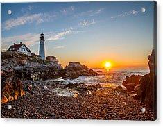 Portland Head Sunrise Acrylic Print