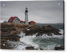 Portland Headlight @ Christmas Acrylic Print