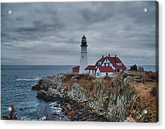 Acrylic Print featuring the photograph Portland Headlight 14440 by Guy Whiteley