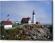Portland Lighthouse  Acrylic Print by Melissa C