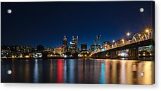Portland Oregon Nightscape Acrylic Print