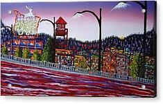 Portland Oregon Sign 12 Acrylic Print by Portland Art Creations