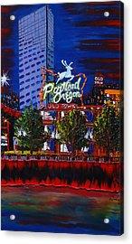 Portland Oregon Sign 15 Acrylic Print by Portland Art Creations