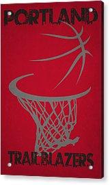 Portland Trail Blazers Hoop Acrylic Print by Joe Hamilton