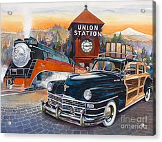 Portland's Union Station Acrylic Print by Mike Hill