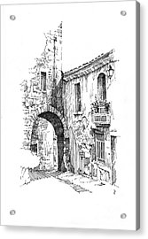 Acrylic Print featuring the drawing Portmerion by Paul Davenport