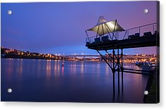 Porto @ Night With A Touch Of Long Exposure Acrylic Print