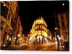 Porto Portugal At Night 1 Am Acrylic Print