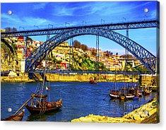 Porto Barges Acrylic Print by Rick Bragan