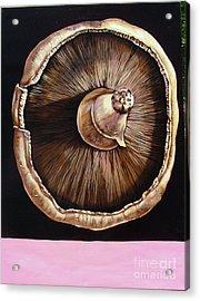 portobello in Fushia Acrylic Print by Shelley Laffal