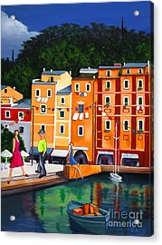 Portofino Art Print Acrylic Print by William Cain