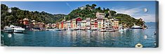 Portofino Big Panorama Acrylic Print by Phooey