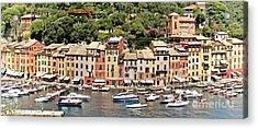Portofino Panorama Acrylic Print