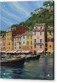 Portofino Summer Acrylic Print by Emily Olson