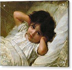Portrait De Marie-louise  Acrylic Print by Emile Munier