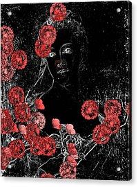Portrait In Black - S0201b Acrylic Print