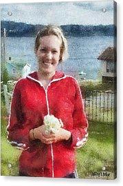 Portrait In Newfoundland Acrylic Print by Jeff Kolker