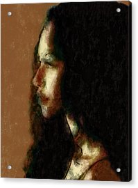 Portrait In Sepia Tones  Acrylic Print
