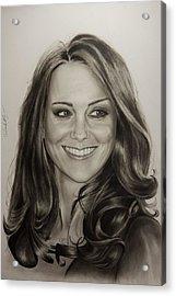 Portrait Kate Middleton Acrylic Print by Natalya Aliyeva