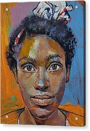 Portrait Of Toni Acrylic Print
